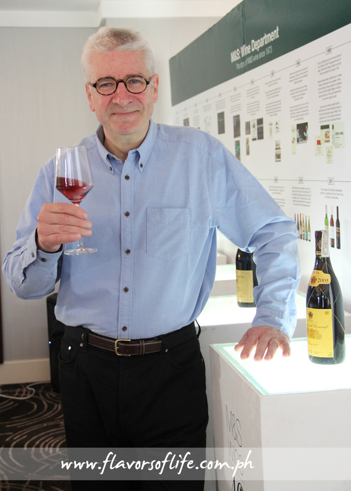 Marks & Spencer wine expert Chris Murphy leads wine-tasting session to sample the wine array of marks & Spencer wines