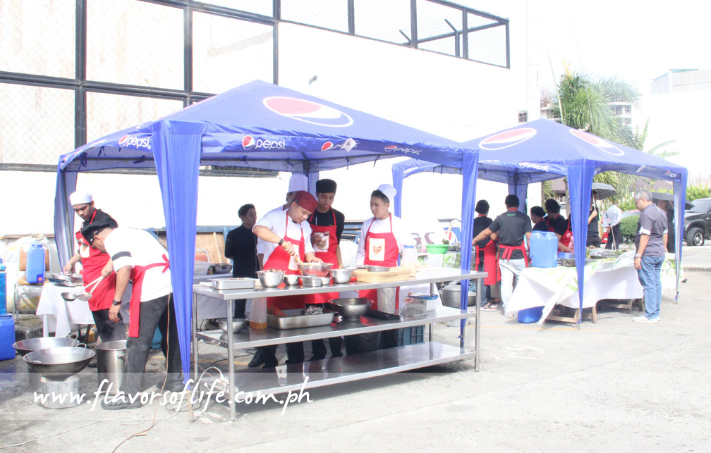Tents were set up for the cooking competition