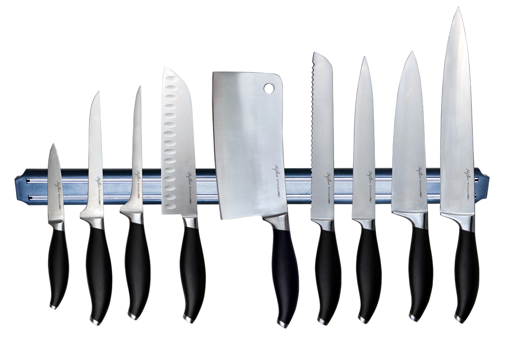 The Masflex KitchenPro Culinary Knife Collection with Flair handle