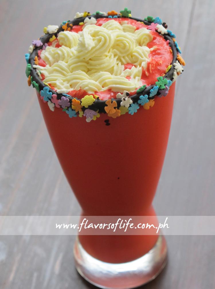 Harina Artisan Bakery Cafe's Red Velvet Smoothie