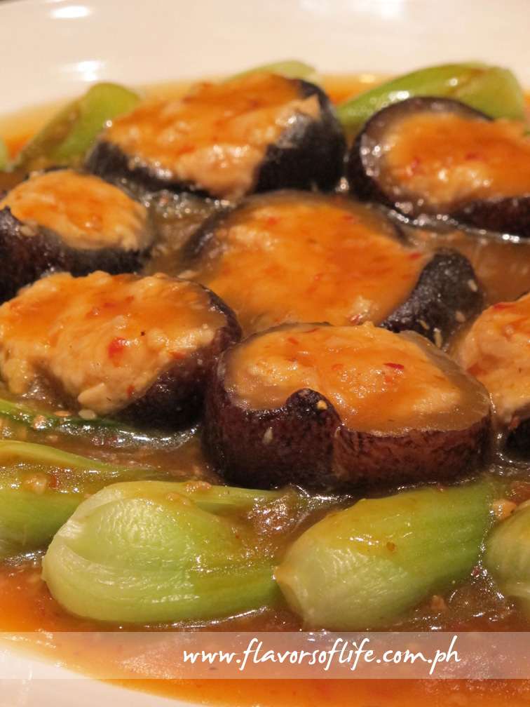 Braised Sea Cucumber with Minced Chicken Szechuan Style
