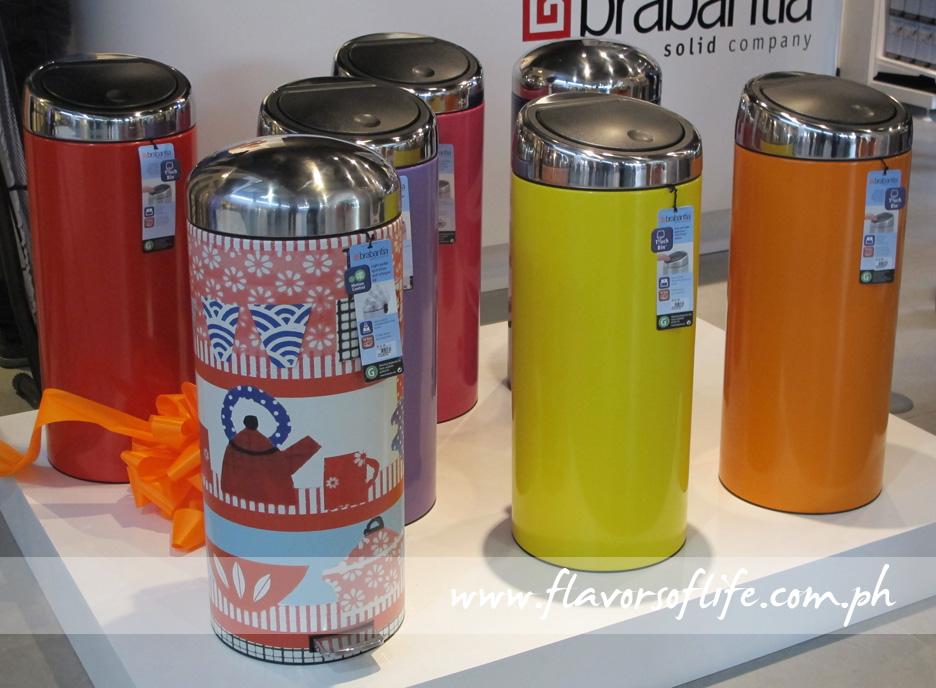 Brabantia's waste bins come in funky designs and colors