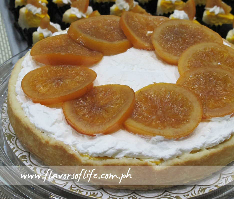 Orange Cheesecake (The Vegetarian Kitchen by Tita Soliongco)