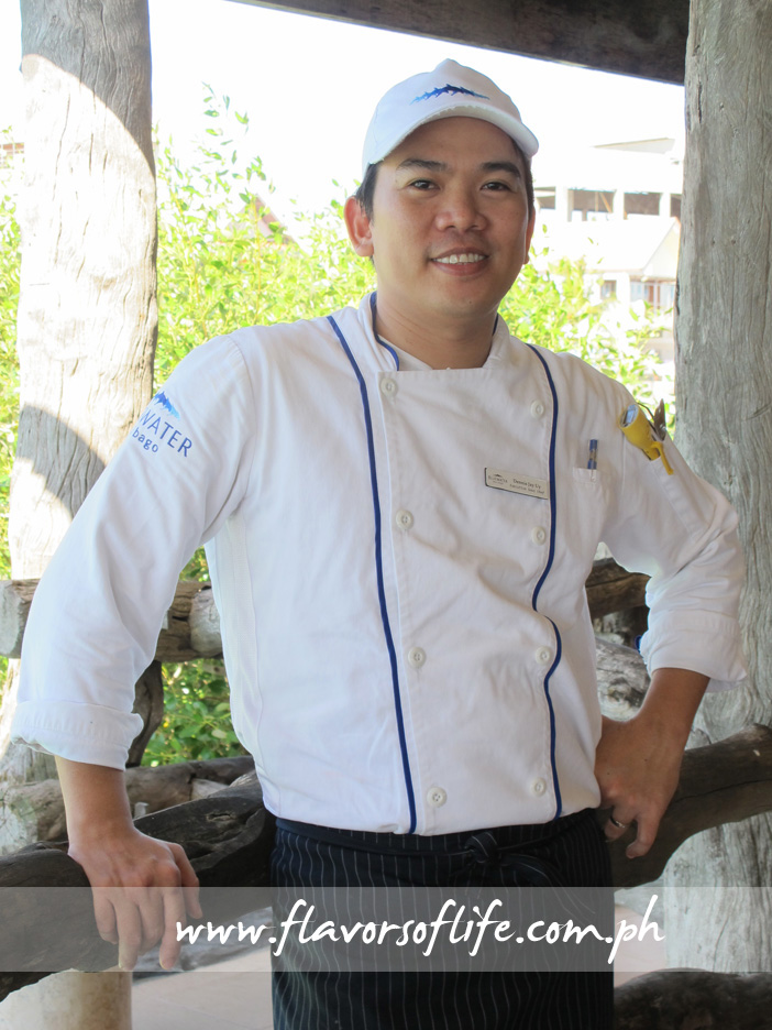 Bluewater Maribago Beach Resort executive sous chef Dennis Uy