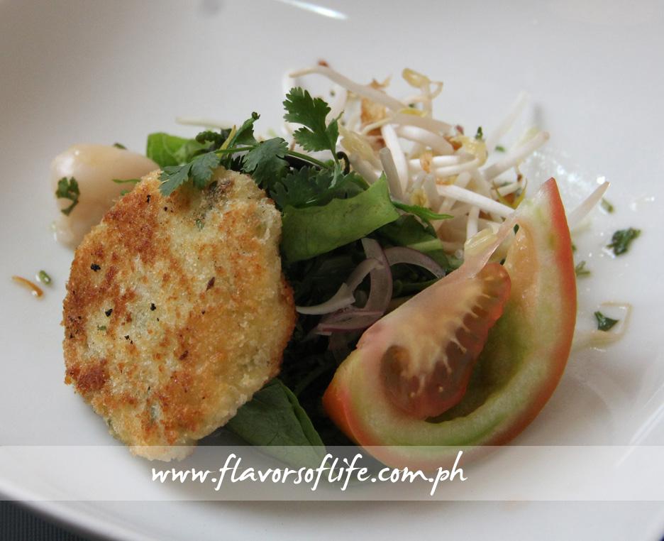 Patatas Tinapa Croquetas with Pako Salad