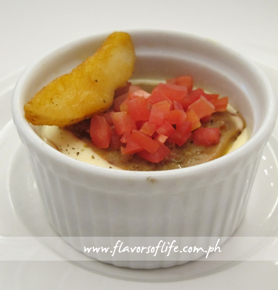 Egg and Cocotte with Duck Liver and Potato