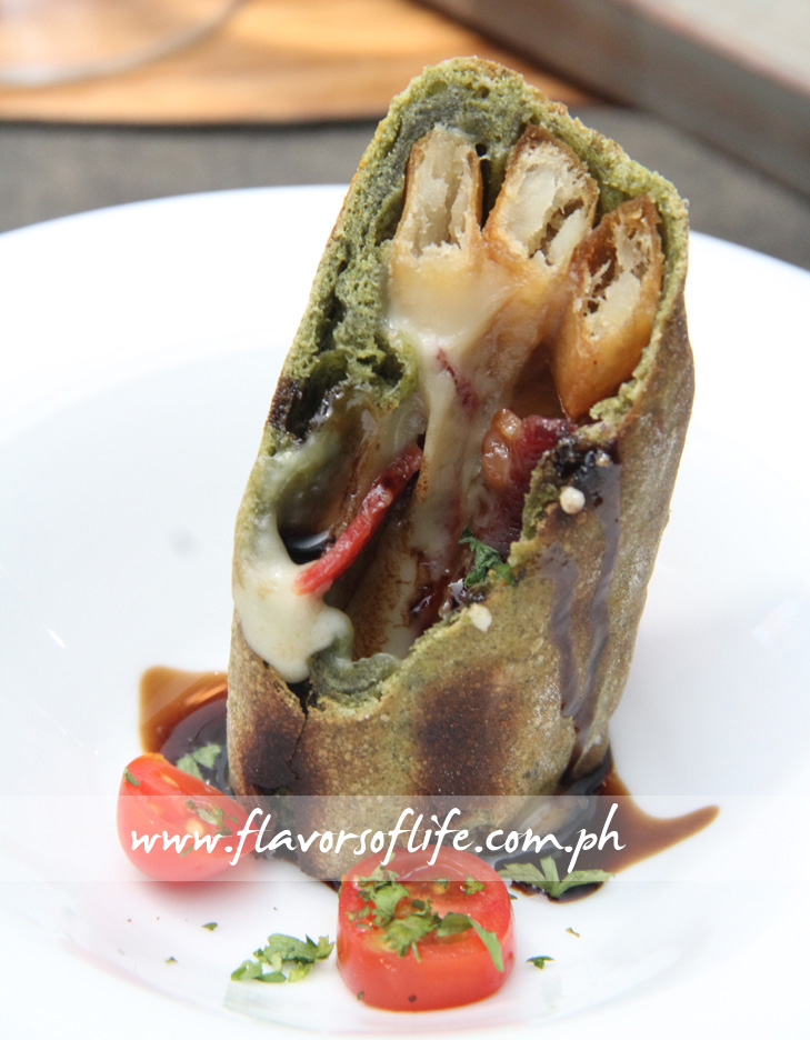 Spinach Flat Bread Roulade