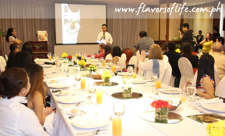 Setting for Chef Sau del Rosario's exhibition lunch at Marco Polo Plaza Cebu's Manila A function room