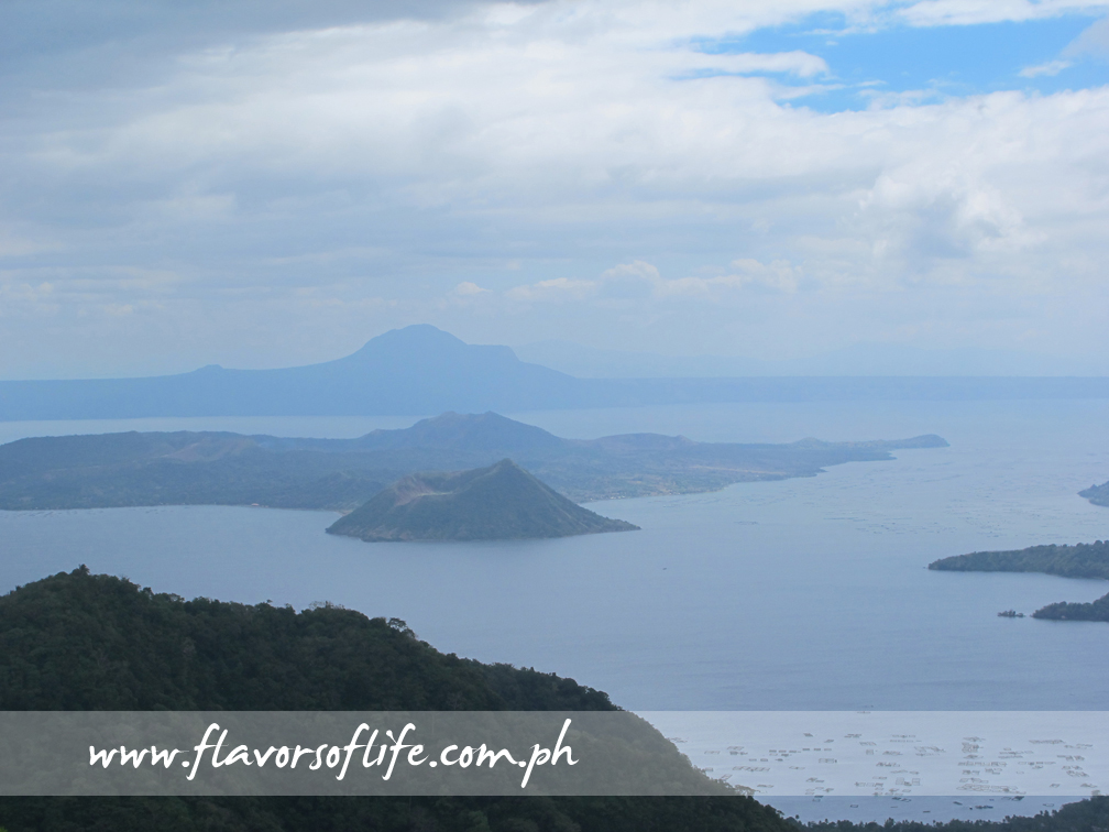 Scenic view of Taal Lake, crowned by Taal Volcano, from the Ridge of Taal Vista Hotel in Tagaytay