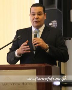 Walid Wafik, area general manager, Taal Vista Hotel