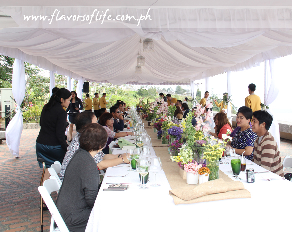 The lovely lunch whose courses were prepared by six celebrity chefs