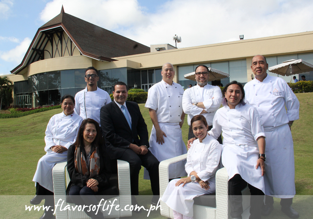 Celebrity chefs at Taal Vista Hotel with SM Hotels and Conventions Corporation president Elizabeth Sy