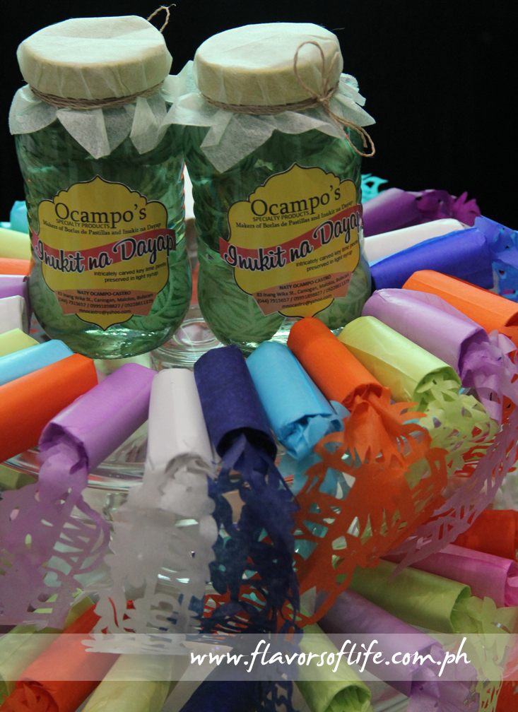 Nanay Luz Ocampo's Inukit na Dayap in bottles and pastillas wrappers