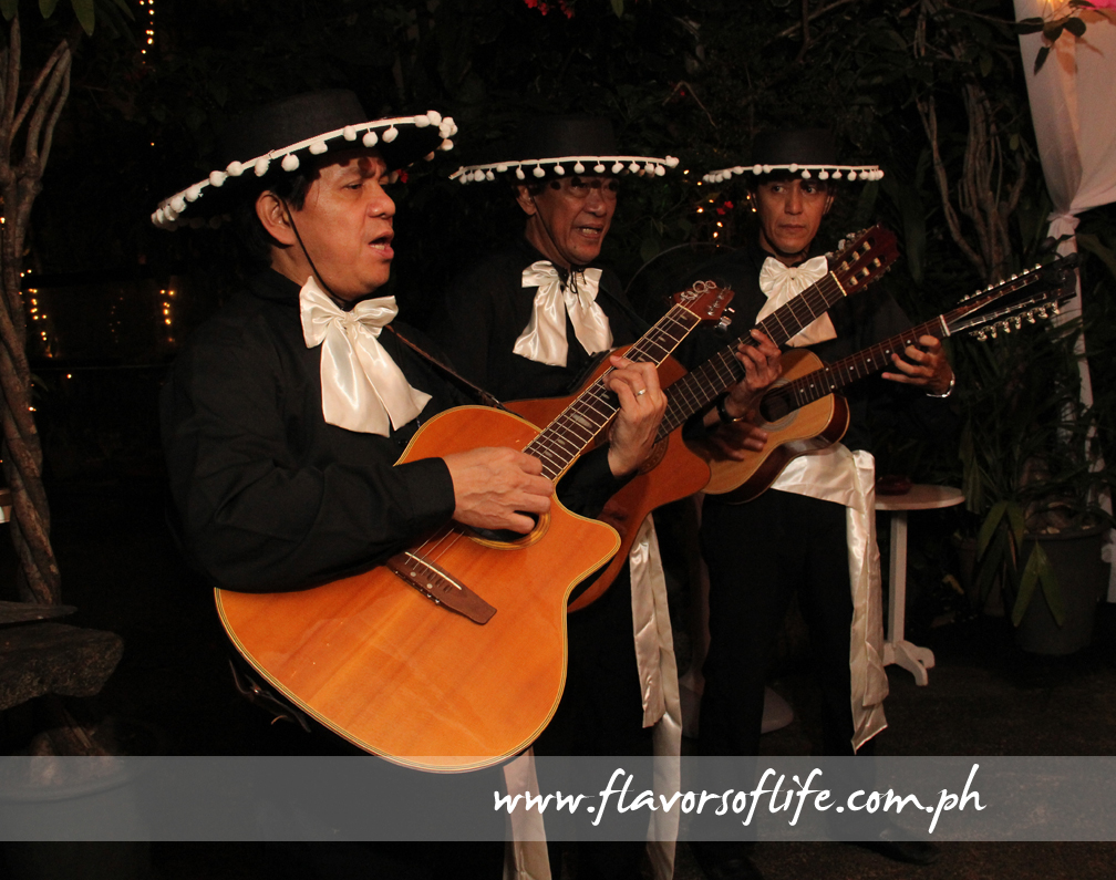 Completing the ambiance was a Mariachi band playing Mexican music as media guests dined