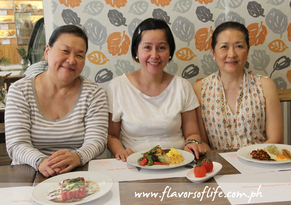 Collaborating on the Meatless Monday recipes, from left: Judy Lao, Harina owner Atty. Marina Demeterio, and Sally Yunez