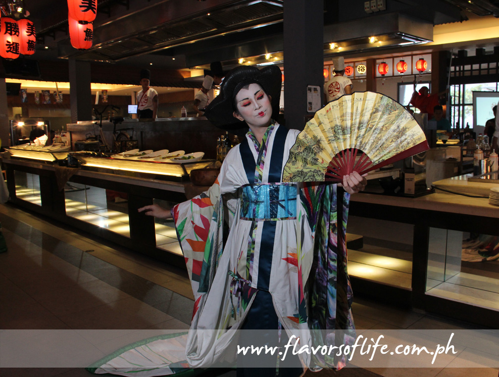 Costumed artists play a role in the theater performances at Banzai