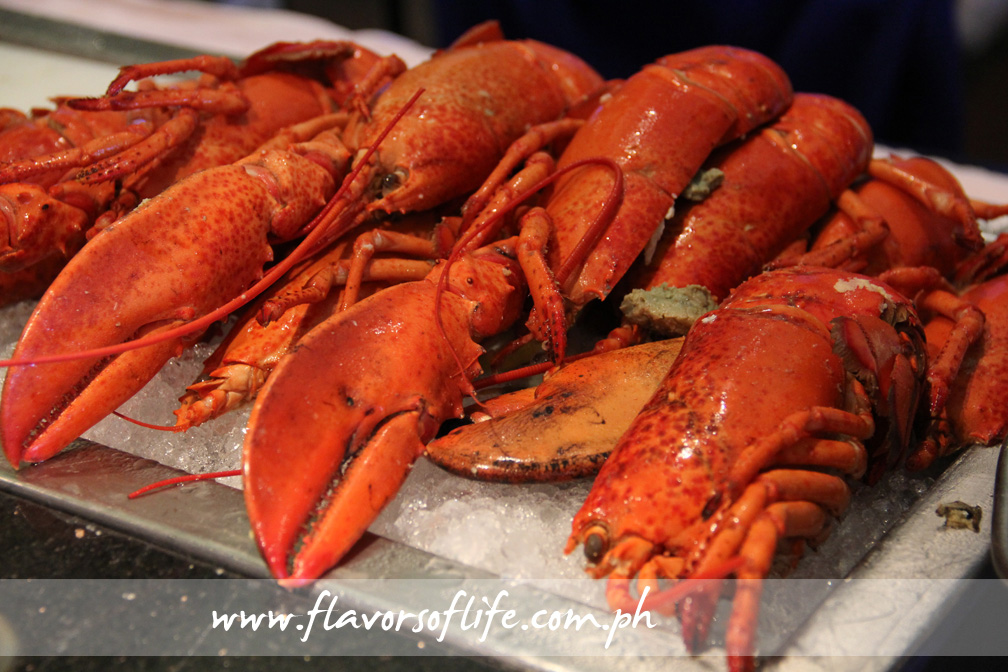 Boston lobsters are flown in fresh once a week specifically for Marriott Hotel Manila's Sunday Brunch