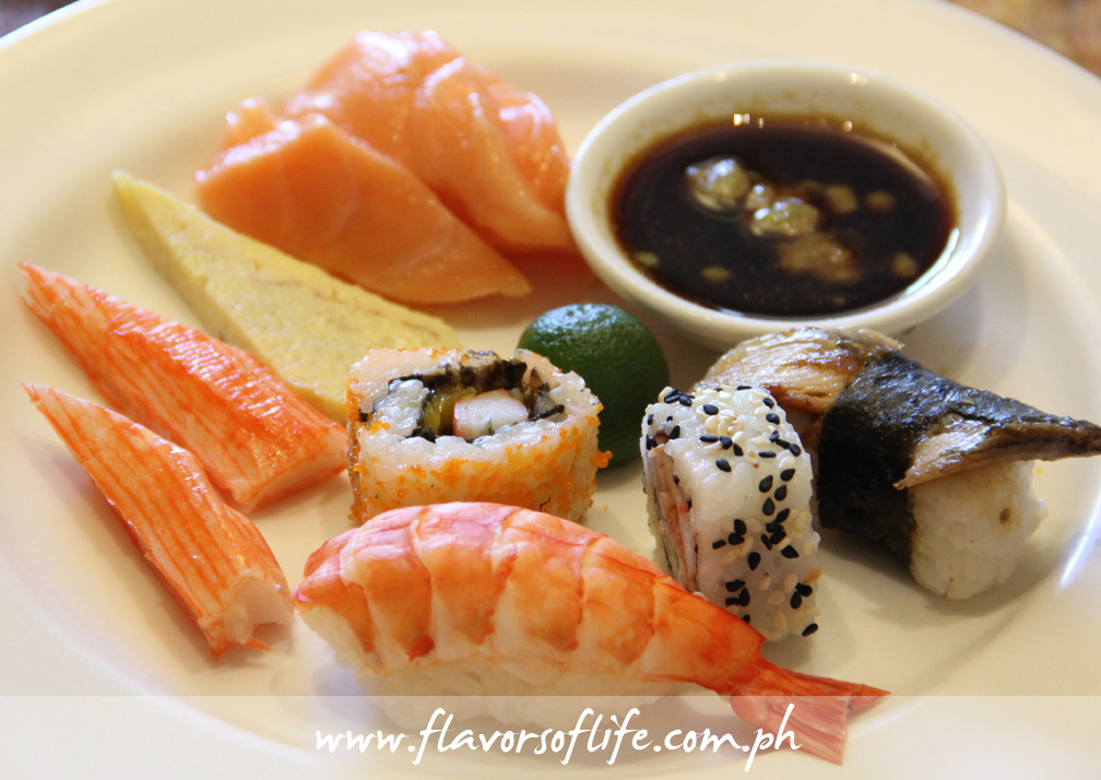 My platter of sushis, sashimis and makis