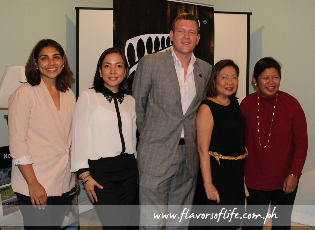 During the Experience New Zealand Fair preview held at the ambassador's official residence, from left: Maricris Bernardo, marketing senior division manager, Ayala Malls; AC Legarda, senior division manager, Ayala Center; New Zealand Ambassador H.E. Reuben Levermore; Rita Dy, marketing and communications services manager, Singapore Airlines; and Rowena Tomeldan, VP and head of operations, Commercial Business Group, Ayala Malls