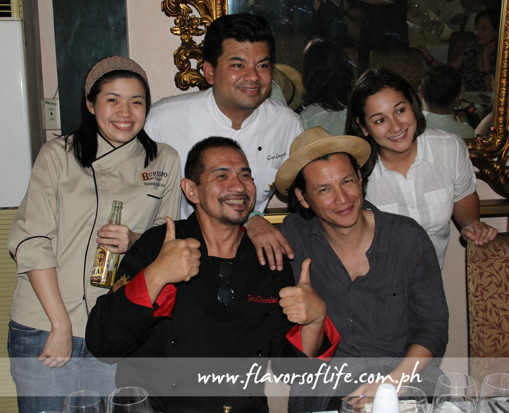 Chefs galore: Gene Gonzalez and Bobby Chinn flanked by Giannina Gonzalez, Gino Gonzalez and China Cojuangco Gonzalez
