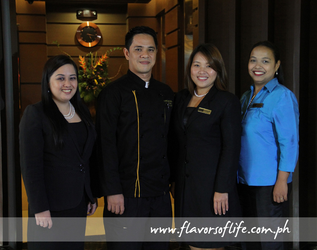 Luxent Hotel's top guns, from left: director of sales and marketing Mayette Sagales, executive chef Christian Martinez, GM Melanie Siy-Pagkalinawan, and food and beverage director Maria Paz Melendrez