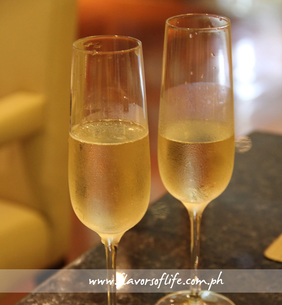 Unlimited sparkling wine comes with the Sunday brunch