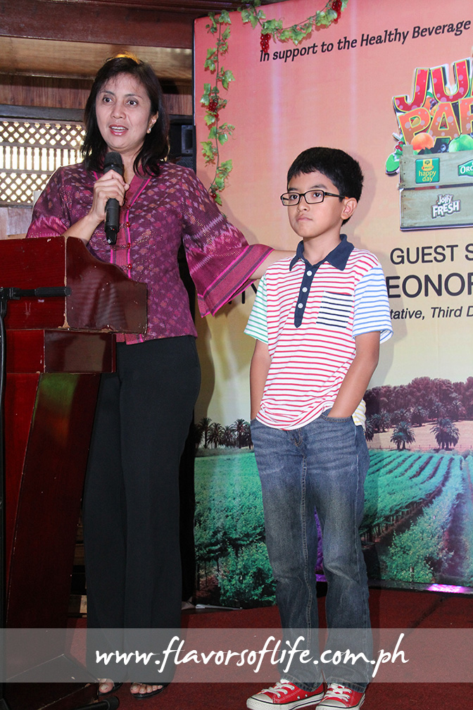 Congresswoman Leni Robredo and Multiple Intelligence School student Daniel 'Chip' Gatmaytan both want schools to ban softdrinks and provide healthier drink alternatives to students