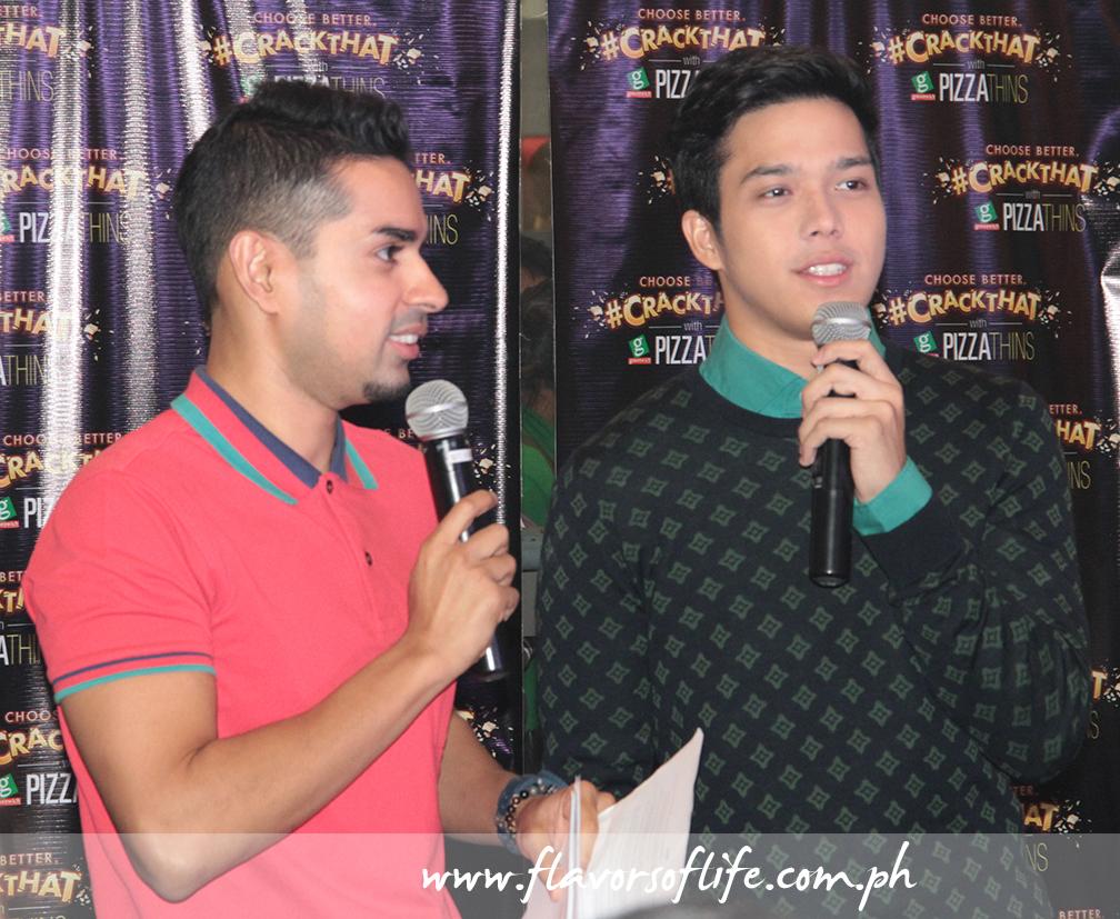 Event host Sam YG and Elmo Magalona