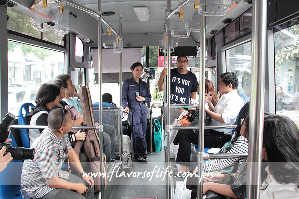 In the BGC Hop On Hop Off Bus with The Mind Museum's Artha Ting and BGC Eats curator JJ Yulo