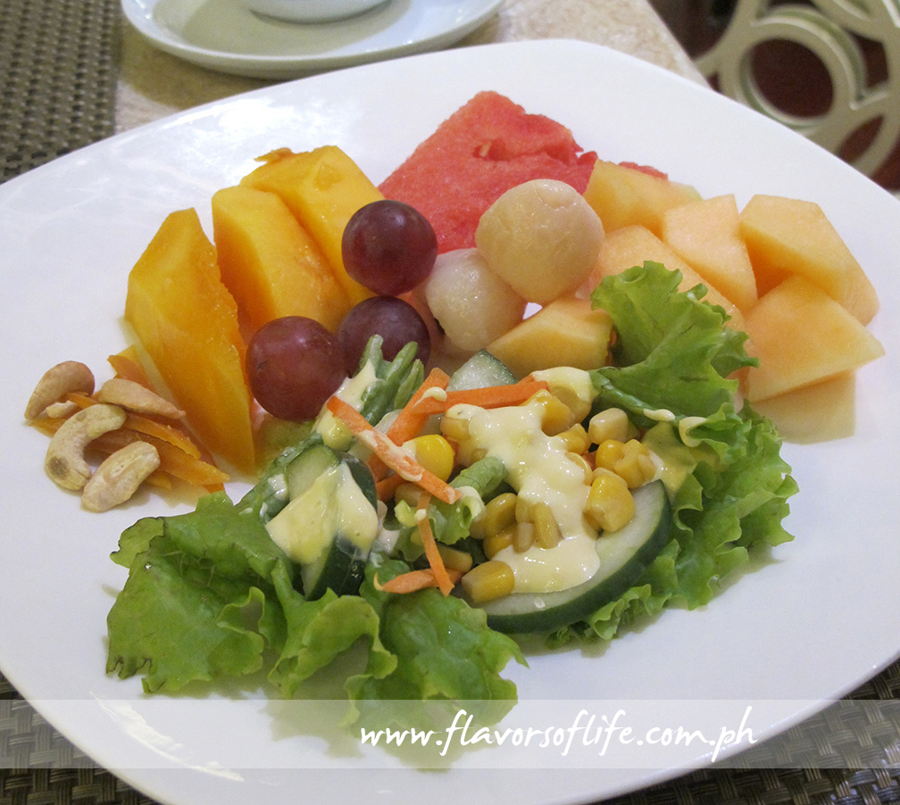 My fresh fruit and salad platter