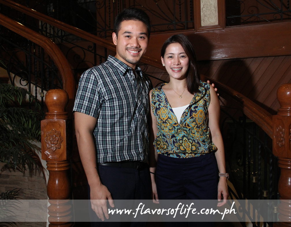 Kiko Dy, son of Isabela Governor Bojie Dy and barangay captain of San Fabian, Echague, Isabela, with business partner Jessica Gallegos