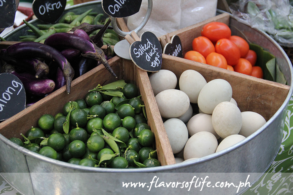 Organic vegetables and salted duck eggs by Farm-in-a-Box