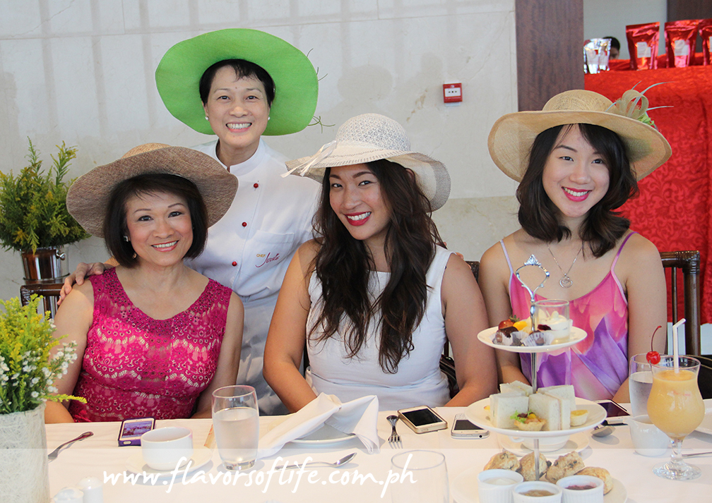 Chef Jessie Sincioco with guests at 100 Revolving Restaurant for High Tea