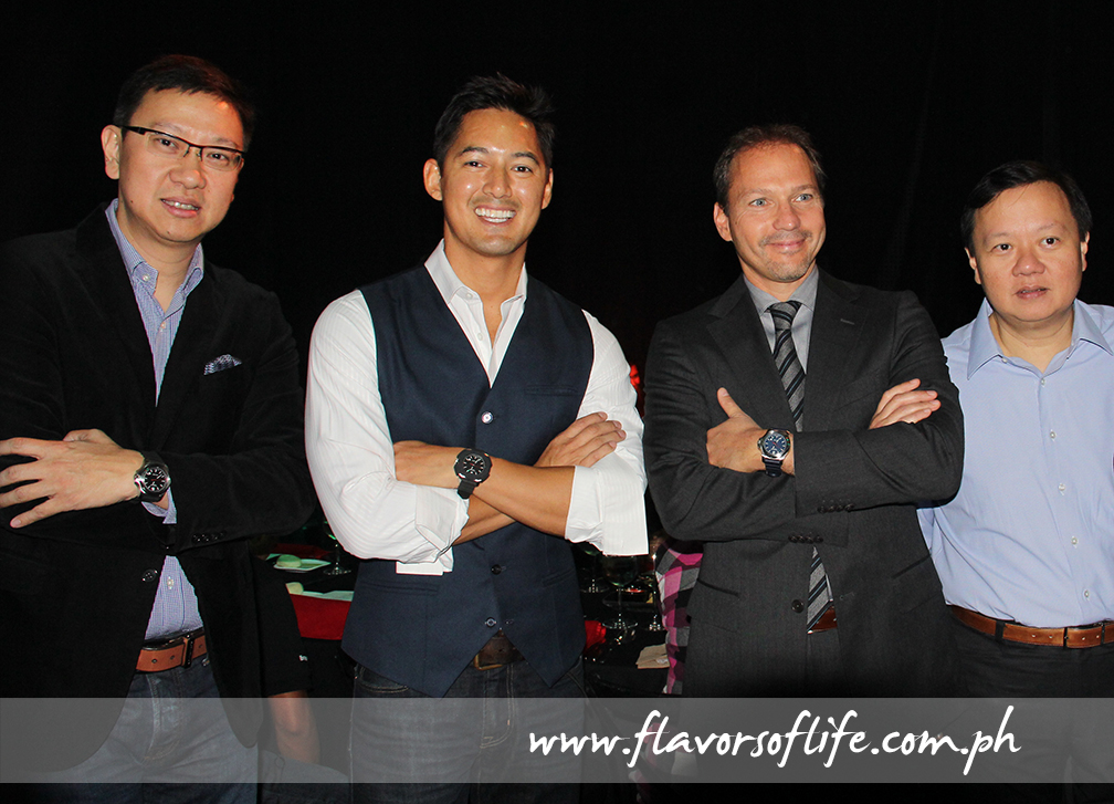 At the launch held at White Space, from left: Lucerne Group managing director Emerson Yao, , Marc Nelson, Victorinox CEO Alex Bennouna and Lucerne Group managing director Ivan Yao
