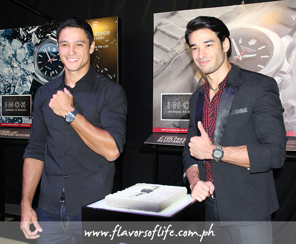 Friends of the brand Andrew Wolff and John Spainhour show off their chosen I.N.O.X. watches