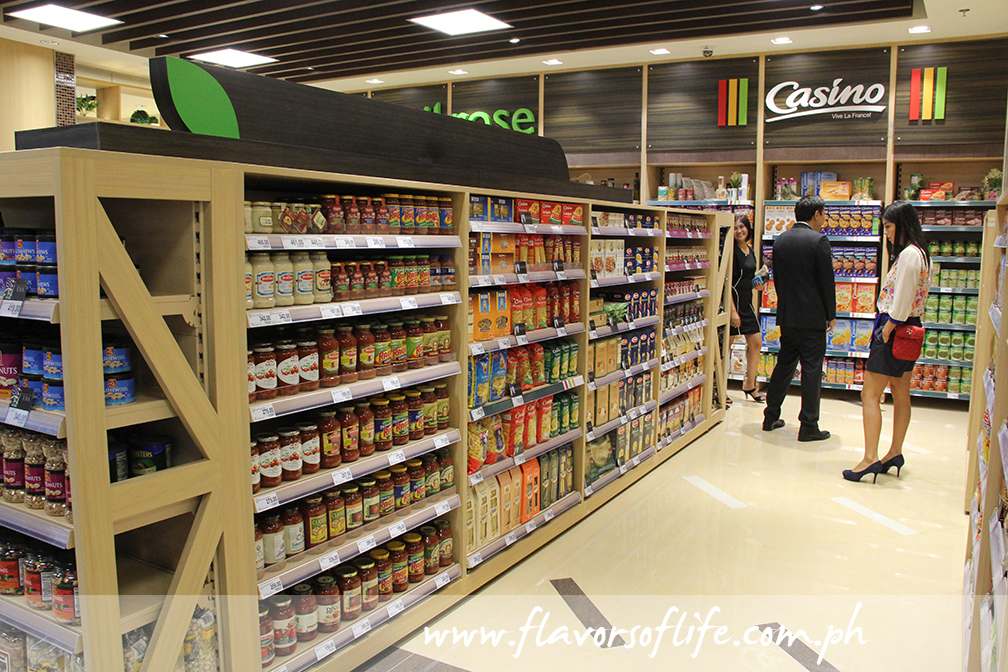 Spacious aisles and lovely product displays are something that can be expected at Marketplace by Rustan's