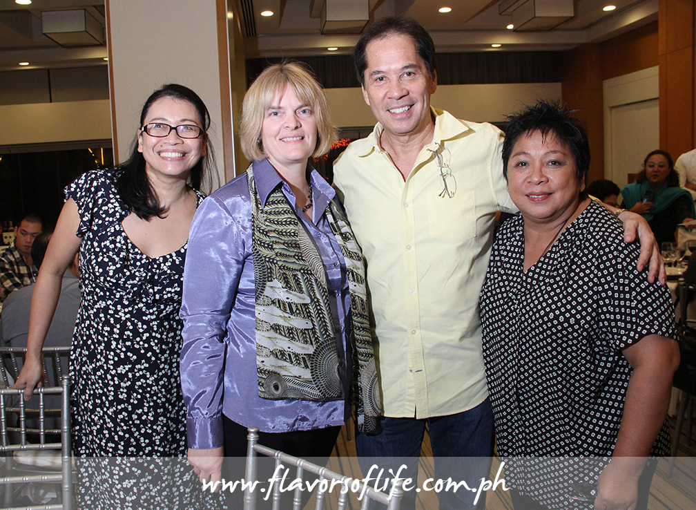 USPB Philippine representative Reji Retugal-Onal, USPB global foodservice marketing manager Susan Weller, Chef Sandy Daza and Chef Myrna Segismundo