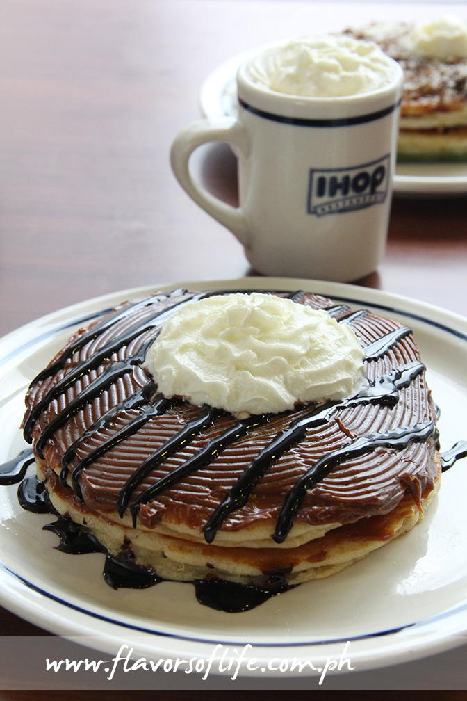 Dulce de Leche Pancake and Malagos Hot Chocolate
