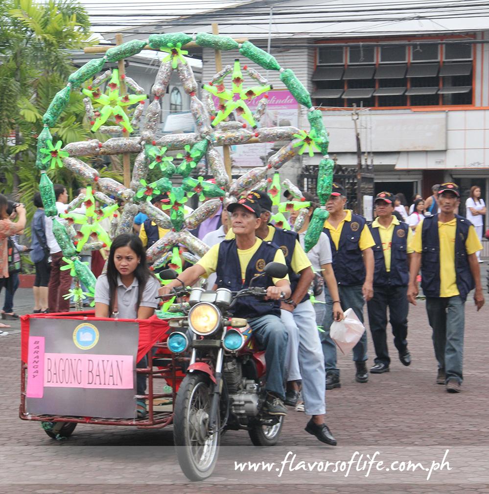Barangay Bagong Bayan recycled softdrinks bottles and turned them into a beautiful parol