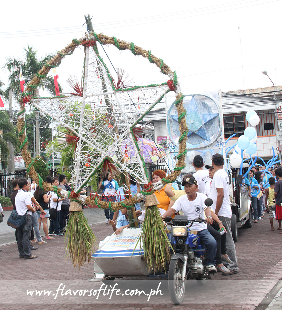 Barangay Mabolo's see-through parol is made of twigs painted with white