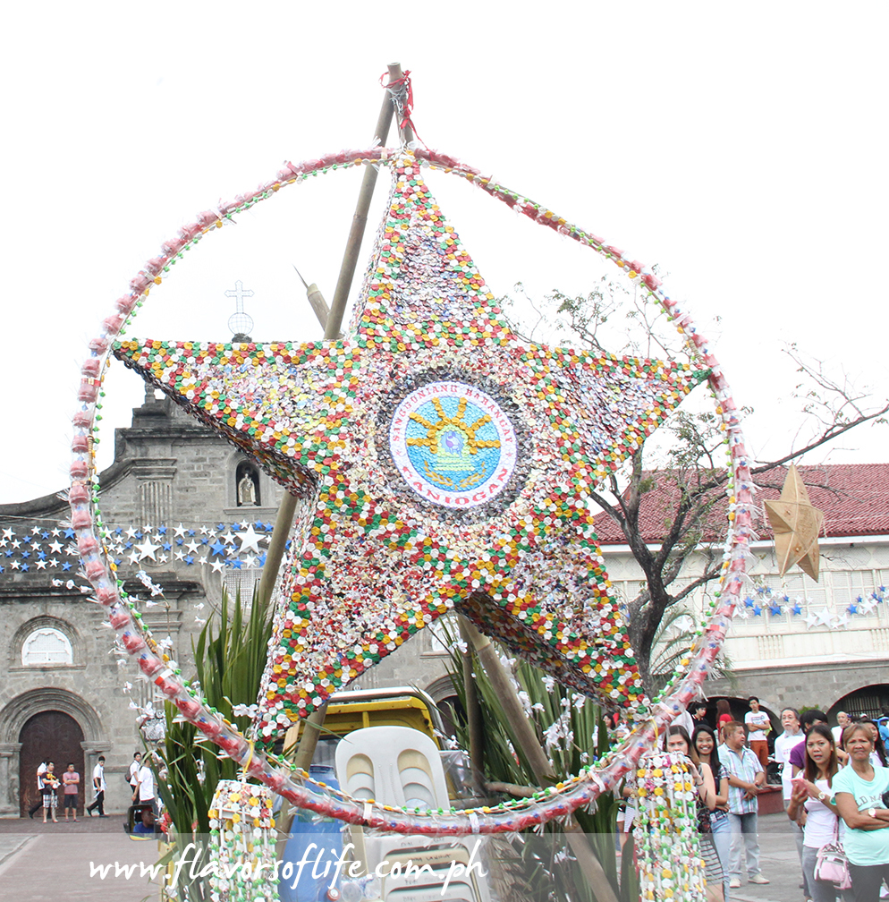 Barangay Caniogan's huge star is made of folded paper