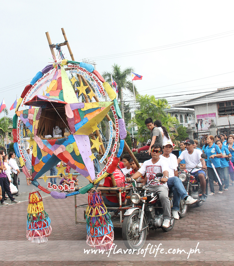 Barangay Look displayed acolorful parol made with recycled rubber slippers