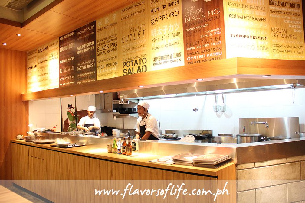 Tampopo's open kitchen