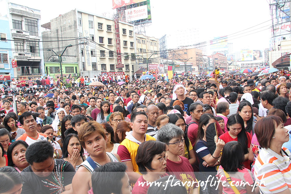 Crowds gathered inside and outside Quiapo Church to hear the hourly Masses on the Feast of the Black Nazarene