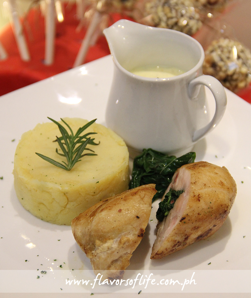 Chicken Breast Roulade, Spinach Orange, and Rosemary Beurre Blanc ...