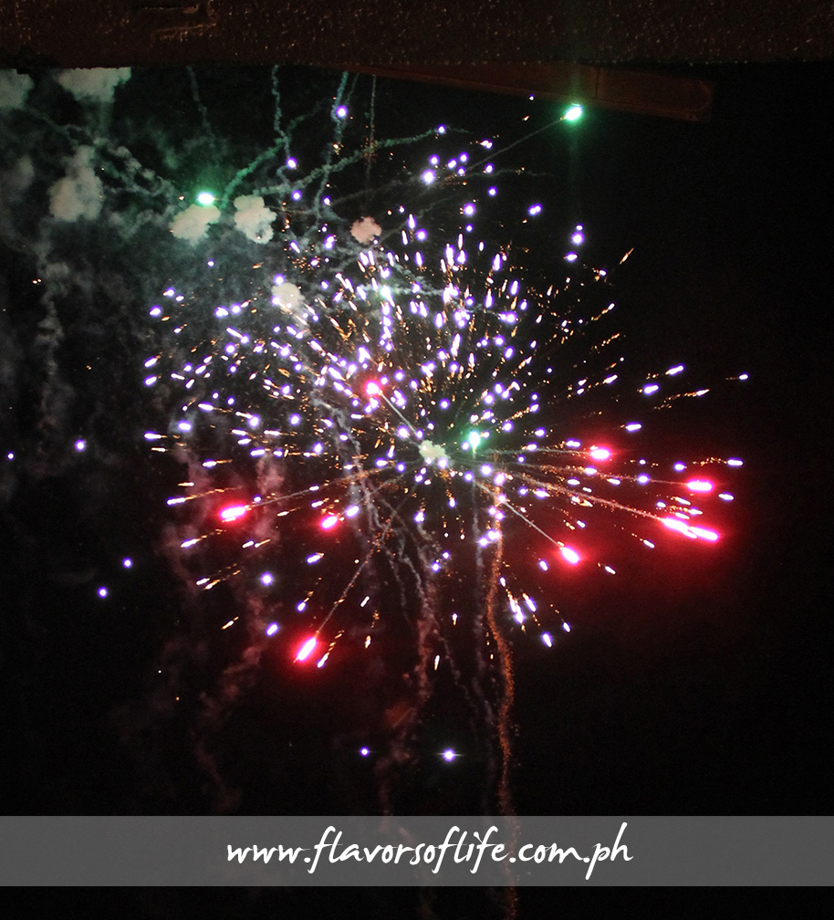 Fireworks lighting up the night sky end the 'blast' of an event in Greenhills