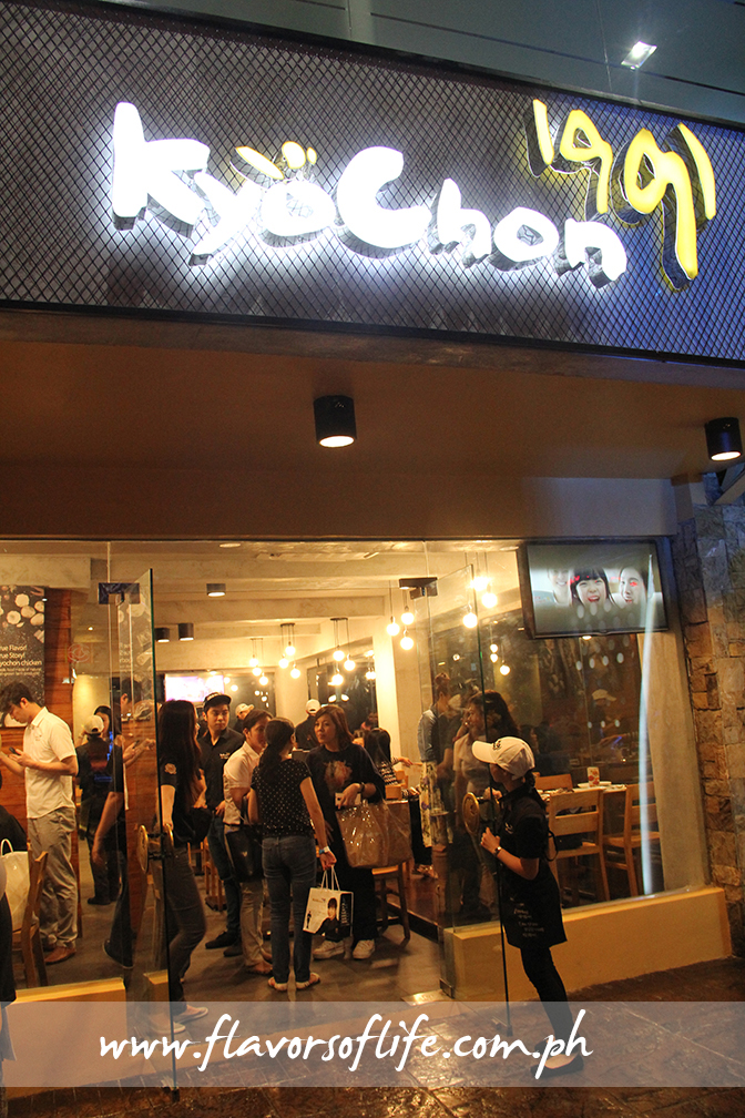 Kyochon's third Philippine store is located at Greenhills Theater Mall
