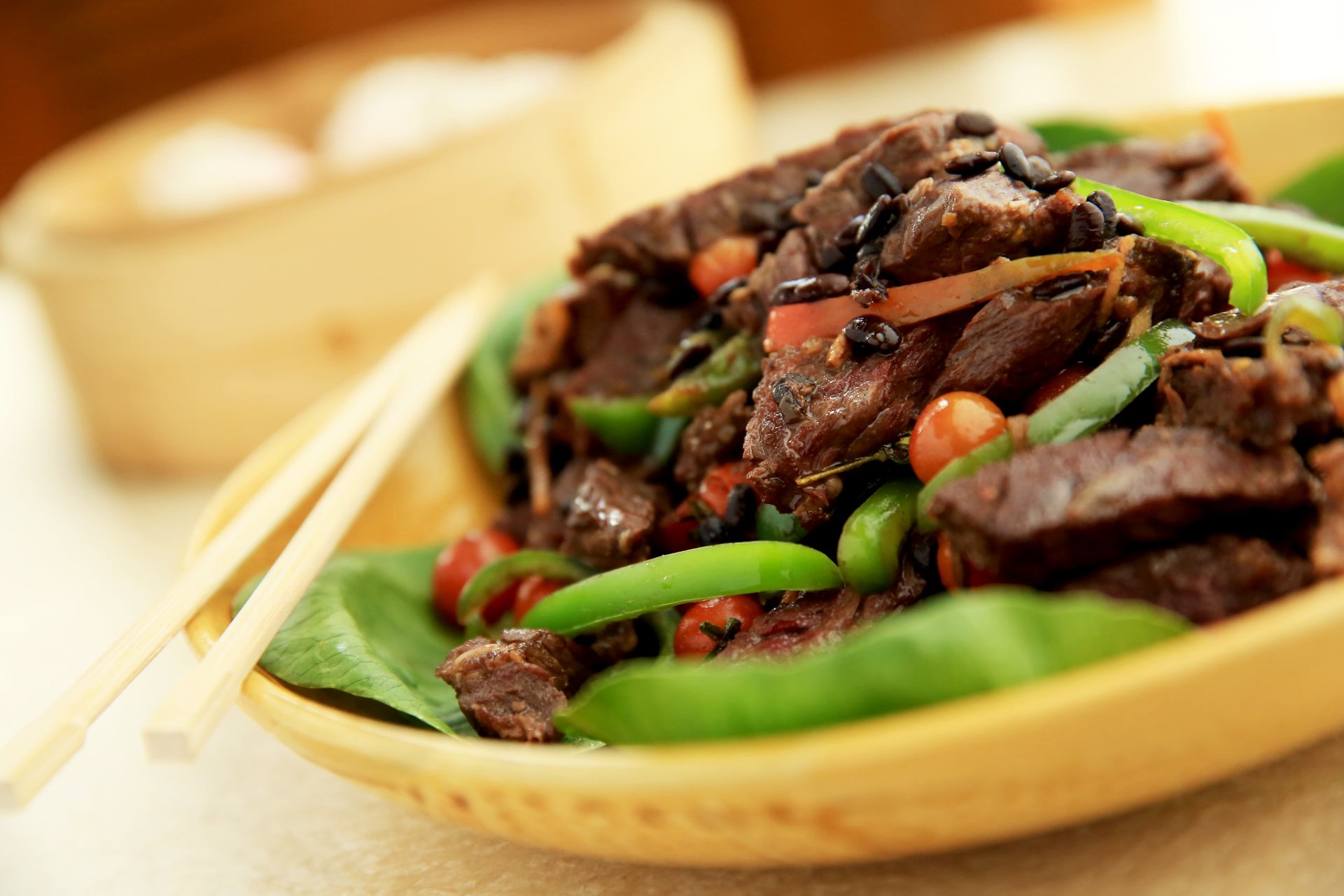Richmonde Cafe's Chinoy Festival features Sliced Beef with Red and Green Pepper