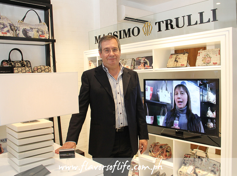 Top Italian designer Massimo Trulli in the newly opened Massimo Trulli Fashion, Food & Wine Concept Store in Makati