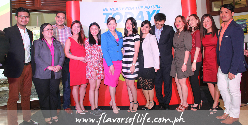 Jolly product assistant Ralph Rebulanan, Jolly Food Line senior product manager Marilou Acuna, Fly Ace Corporation EVP and sales manager Larry Cochanco, Jolly University head master chef Mitchie Sison, Sheena Ramos, Pauli Antoine, Alexis Cuizon (representing Chef Sau del Rosario), Ayette Fernandez (representing Leo de Leon), Fly Ace Corporation president Jun Cochanco, Fly Ace's Ritchie Conde, Nina Daza Puyat, Fly Ace Corp.'s public relations and digital media marketing associate manager MJ Cordova, and the event host